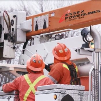 powerline service workers