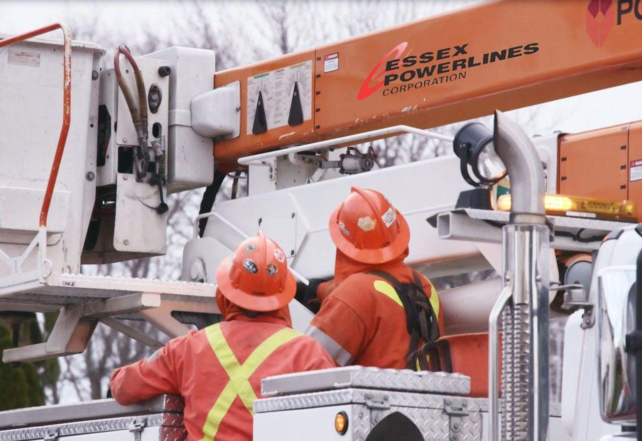 powerline service workers