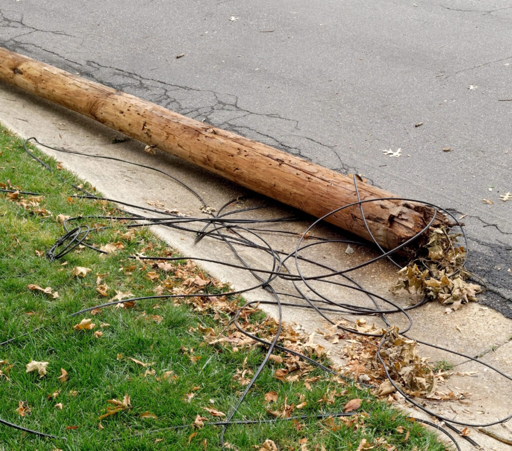 Downed Utility Pole